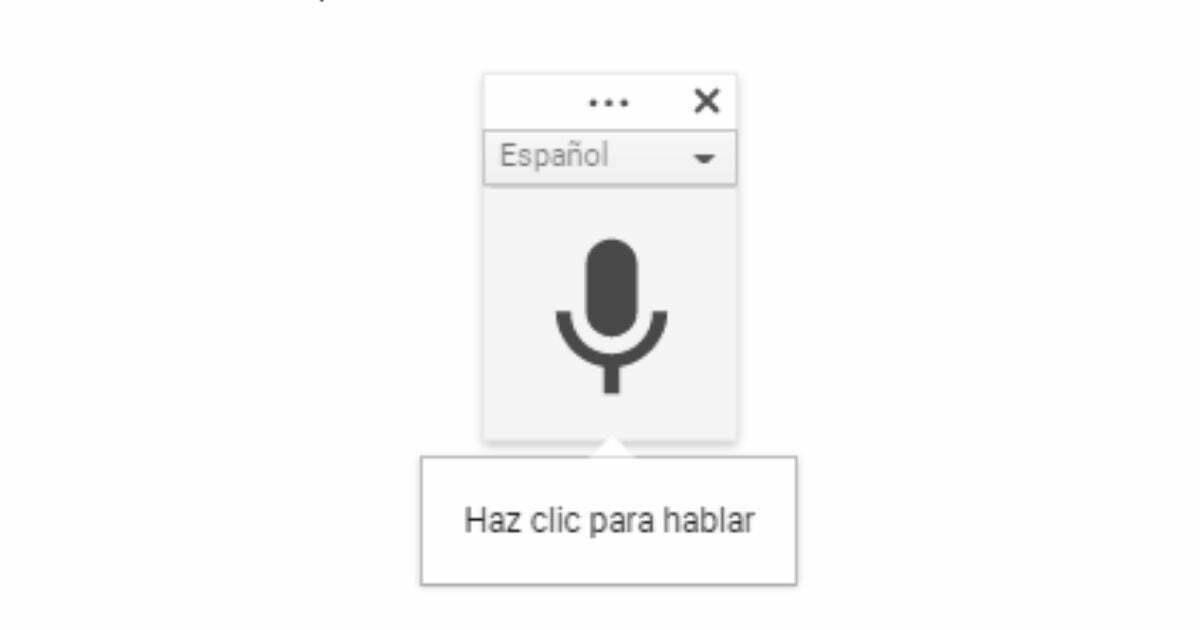 micrófono google docs